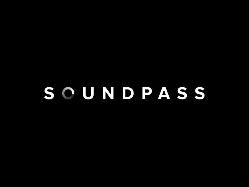 Soundpass Logo london ui gradient audio sound brand typography mark icon logotype branding logo