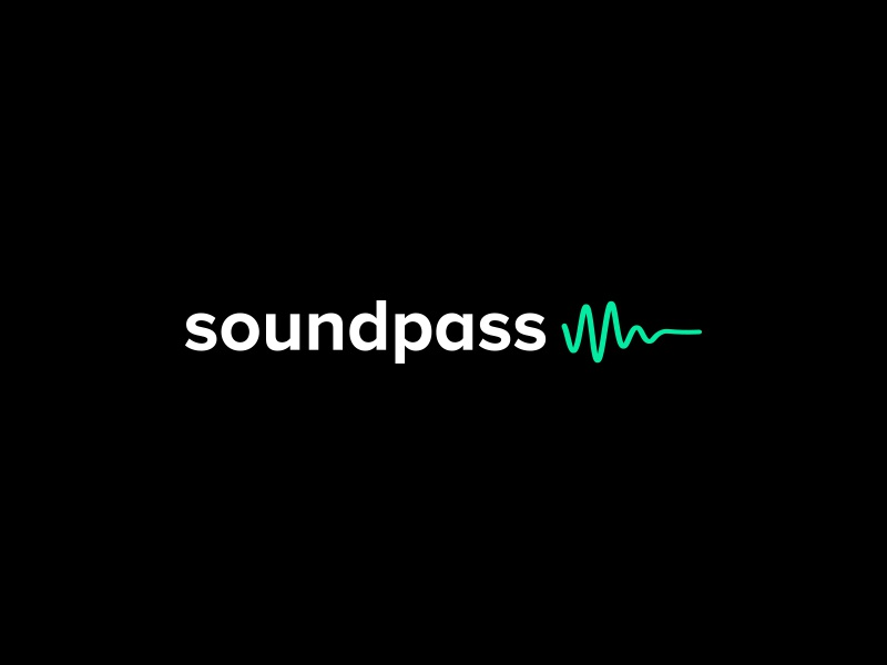 Soundpass Logo - 2 london ui gradient audio sound brand typography mark icon logotype branding logo