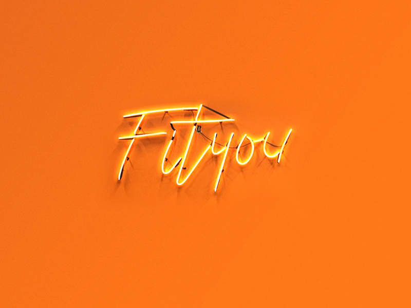 Fityou Branding gradient london studio ems lettering neon fluid logo branding gym fitness