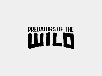 Soundsnap Typography #8 - Predators of the Wild