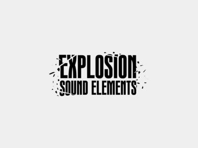 Soundsnap Typography #9 - Explosion Sound Elements