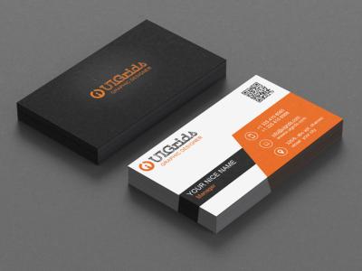 Creative Business Card typography design branding