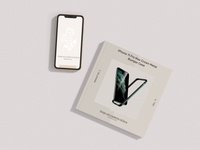 IXD Smartphone With Square Booklet Mockup 3000x2250 vector typography illustration design branding