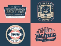 DEFPRO™️ badgedesign typeface illustration lettering graphic typography
