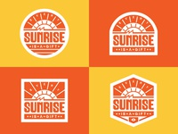 SUNRISE badgedesign illustration typeface lettering graphic typography
