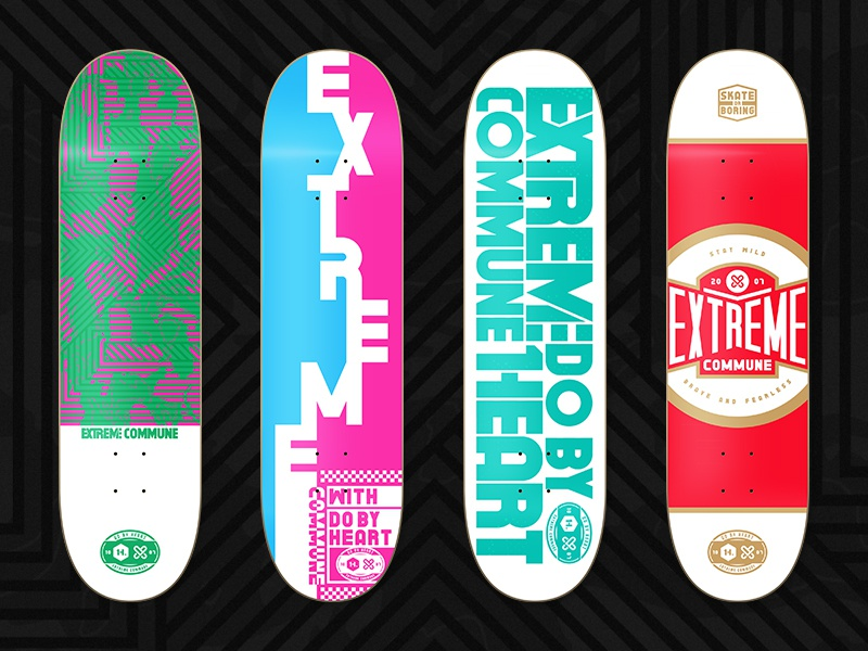 H.X typography typeface skateboard logo illustration graphic