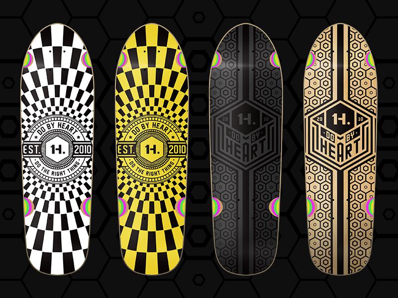 H typography typeface skateboard logo illustration graphic