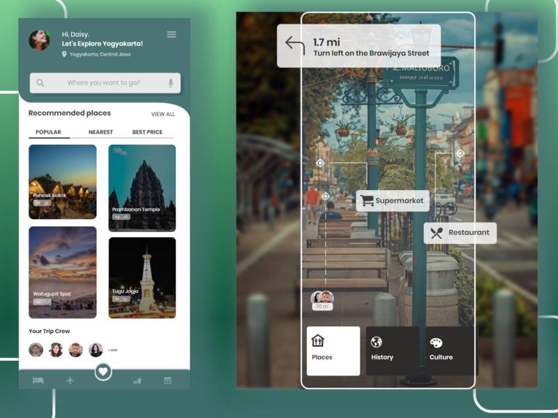 UI Design App Tour minimal design typography app ui