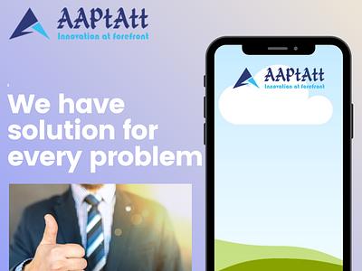 AAPTATT Corp. typography design animation web app branding aaptatt solutions
