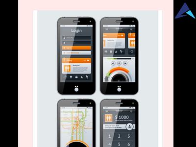 App development logo vector app illustration branding design web dev aaptatt solutions