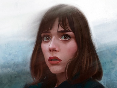 hazy fine art painting procreate illustration