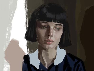 pondering in progress painting fine art illustration
