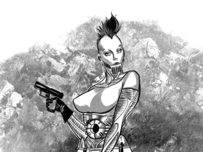Ladytron procreate illustration