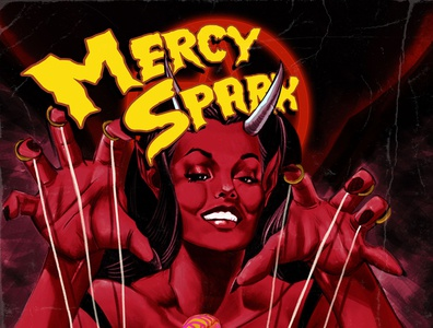 mercy sparx cover pulp art pinup pulp devilsdue mercysparx comics illustration