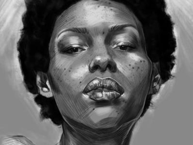 woman fine art painting illustration