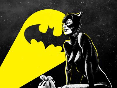Eager Anticipation dccomics catwoman illustration