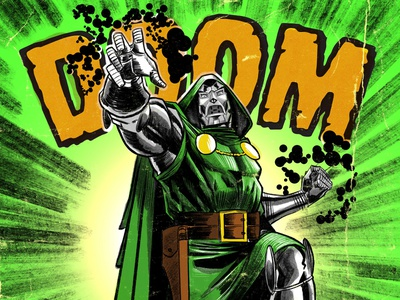 DOOOOOOOOOM! marvelcomics marvel drdoom procreate illustration