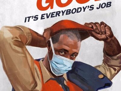 The Common Good fine art coronavirus illustration