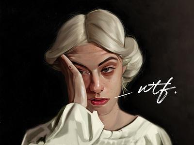 WTF fine art painting illustration