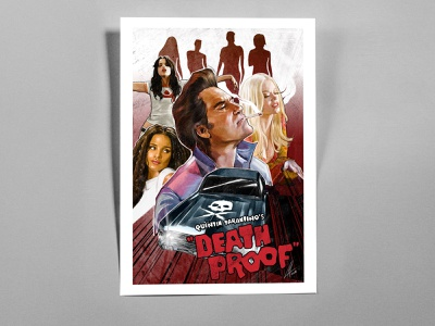 Death Proof Poster poster design posters graphic design illustration