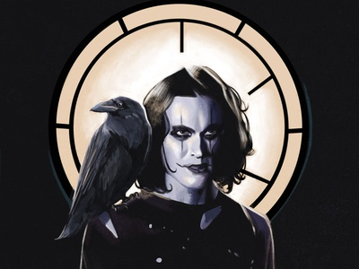 The Crow painting fine art illustration