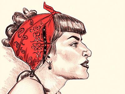 Rockabilly sketch illustration