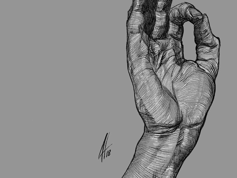 Hand drawing fine art illustration
