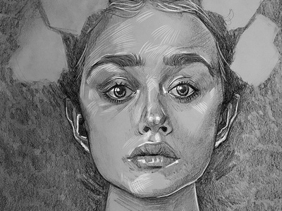 Headdress redraw fine art illustration