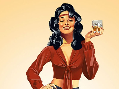 Sassy Molassy graphic design branding pinup illustration