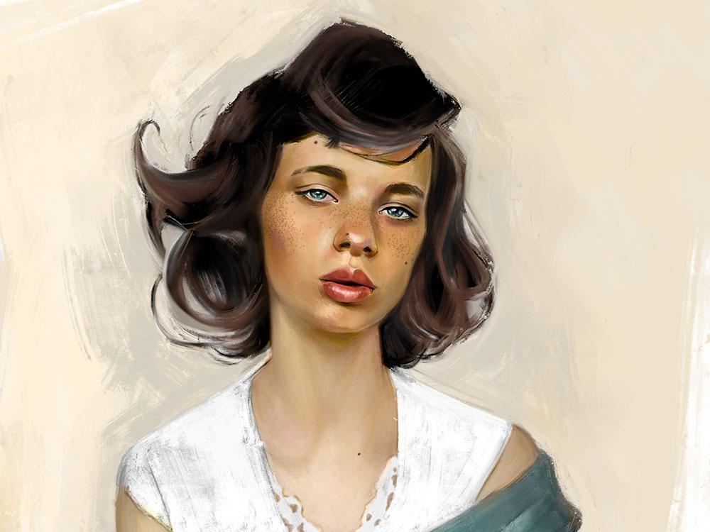 Jane complete fine art illustration