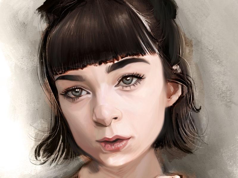 Fingers painting procreate fine art illustration