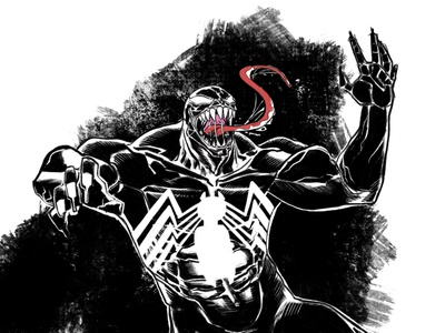Venom procreate illustration