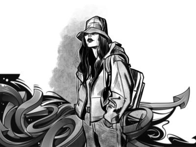hat & hoodie