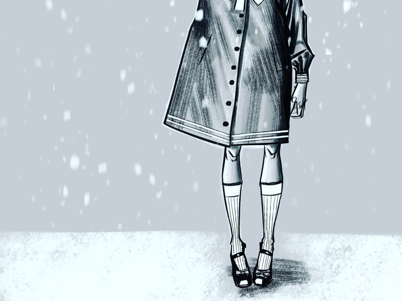 Snow daze illustration