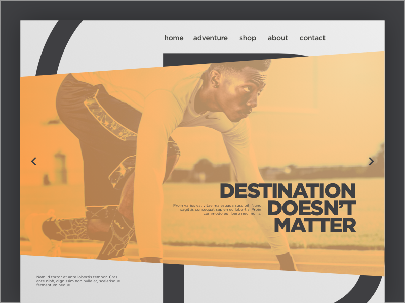 Landing Page runner tracks wear athletic sports site web website one page landing dailyui