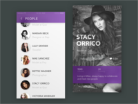 Profile Page people list contact page profile app dailyui