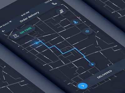 Delivery app ios concept ux ui app delivery dark