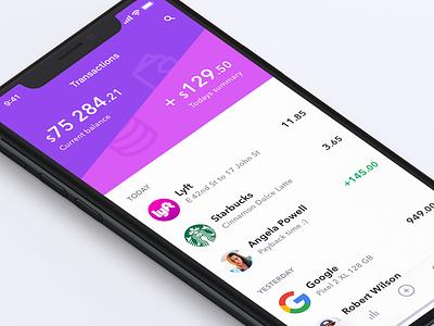 Finance app iphone x finance bank app ui ux concept ios