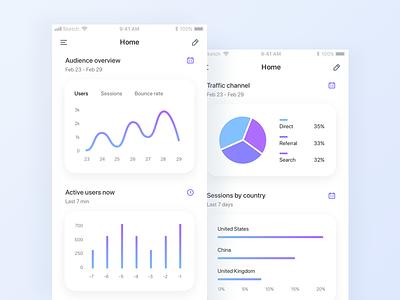 Analytics app analytics ios app concept