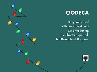 Christmas Wishes team logo christmas tree lights greeting card wishes christmas design