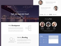 Escape - Free One Page Web Template ui web design flat free psd