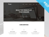 Dreams - One Page Web Template (Freebie)