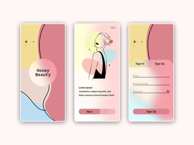 Beauty Salon onboarding ui onboarding ux vector minimal app ui design