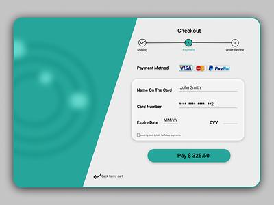 Checkout Page dailyui application tablet graphic design payment uidesigner ux design ui design ux checkout page checkout minimal ui design