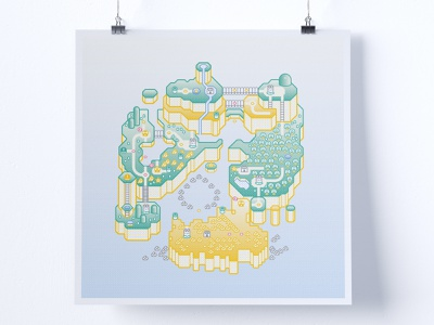 Super Mario World Print maps game map gamer gaming cartography map illustration map super mario nintendo super mario bros. super mario world isometric illustration isometric flat illustration