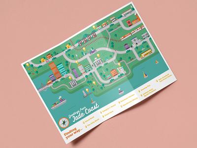 Tri-fold map