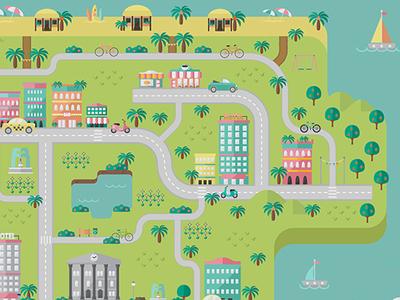 City Guide Map Closeup