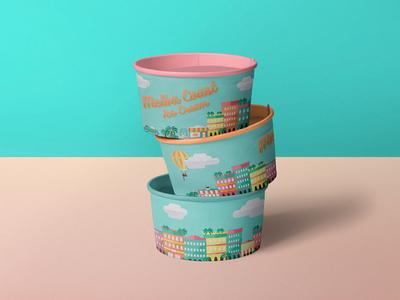 Summer ice cream pots