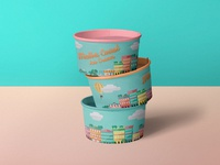 Summer ice cream pots
