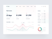 Invoicing Platform statistics web app app icons funds invoice finance platform web crm analytics clean minimal grid typography chart dashboard product design ui ux